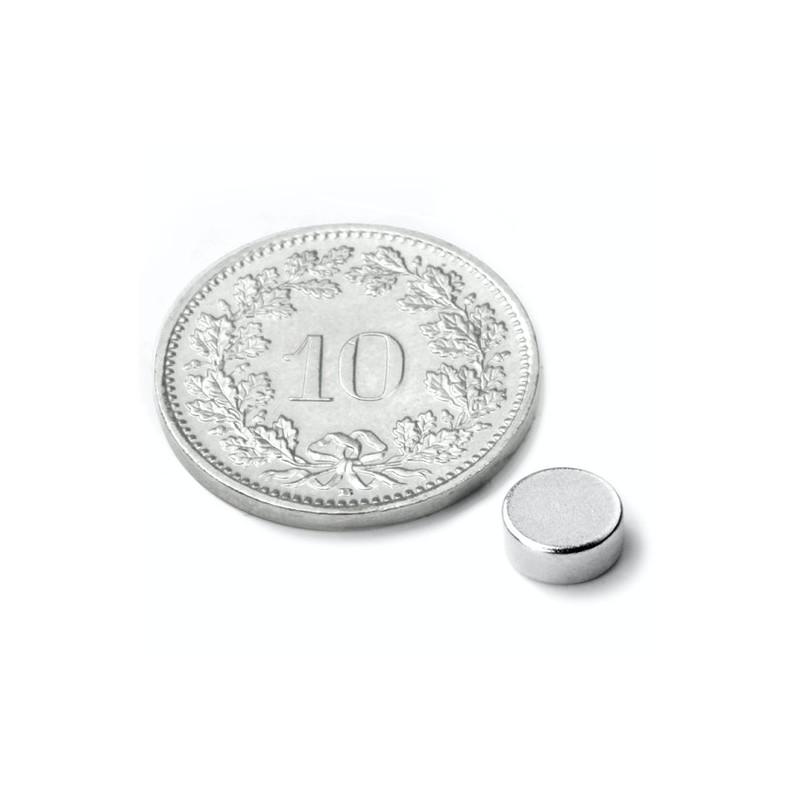 mighty-games-Neodym magnetic disk - Ø 6 mm, height 2 mm