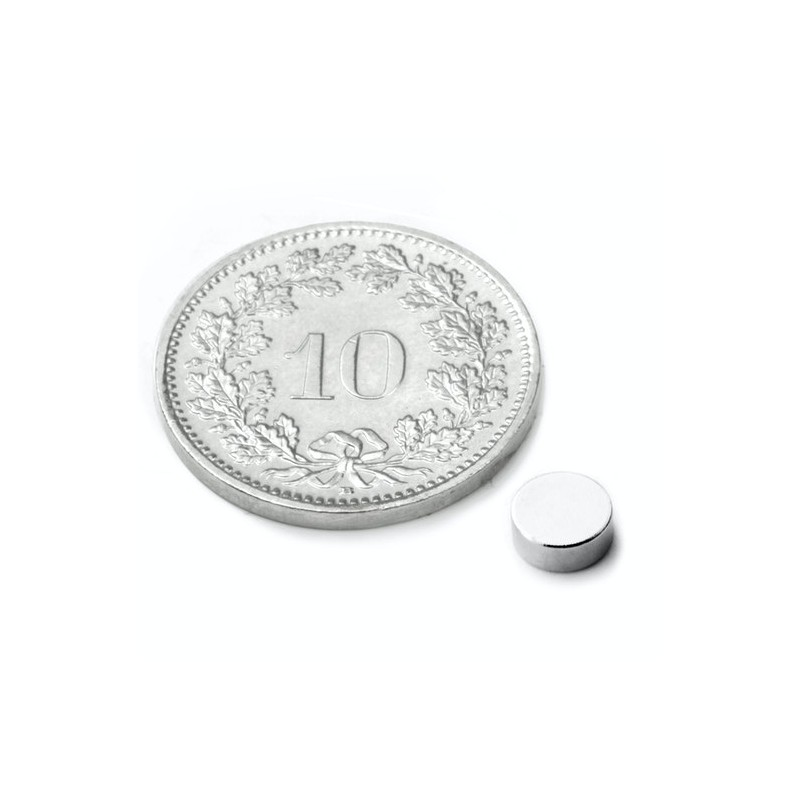 mighty-games-Neodym magnetic disk - Ø 5 mm, height 2 mm