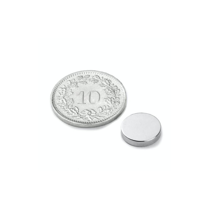 mighty-games-Disque magnétique Néodyme Ø 10 mm, hauteur 2 mm