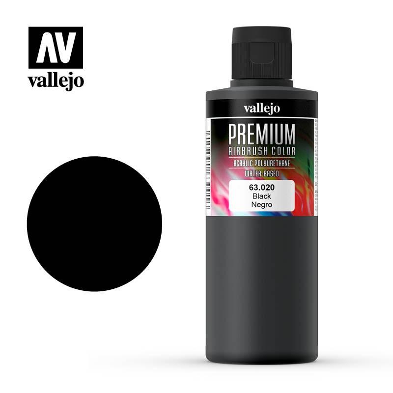 mighty-games-Vallejo Premium Color - Black 200ml (63.020)