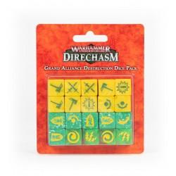 mighty-games-Warhammer Underworlds : Direchasm -  Grand Alliance Destruction Dice Pack